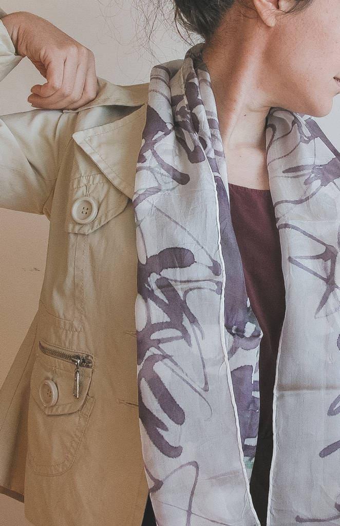 Sciarpe di seta dipinte a mano - AliceElettrica