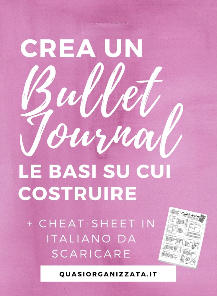 crea un bullet journal | bullet journal italiano | bullet journal idee