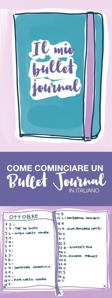 crea un bullet journal | bullet journal italiano | bullet journal cheat sheet