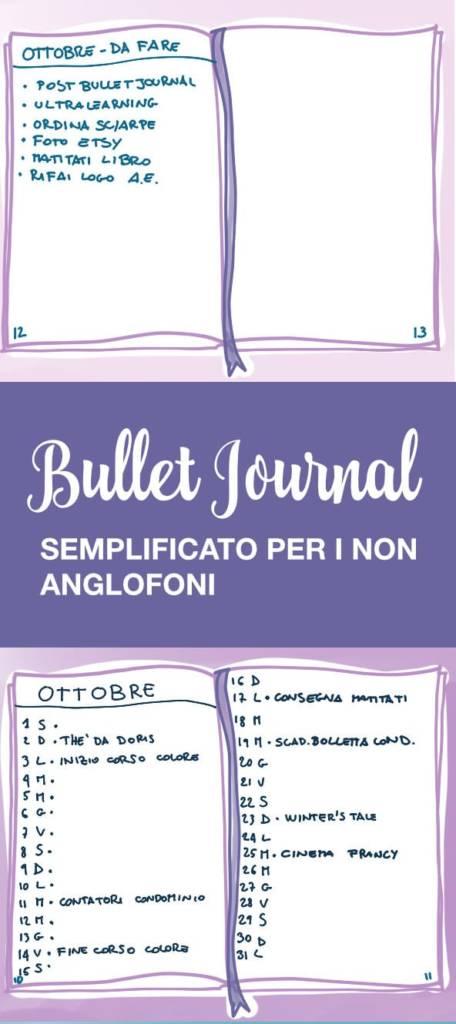 crea un bullet journal | bullet journal italiano | bujo idee