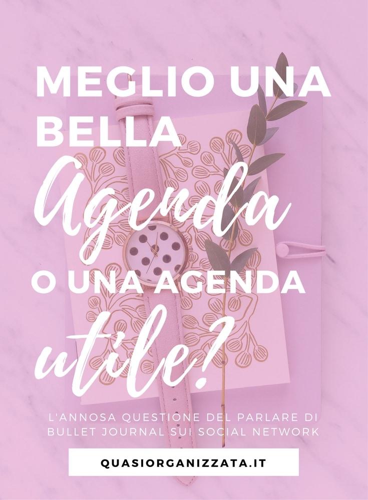 Agenda | bullet journal | produttività | organizzazione | penne | adesivi