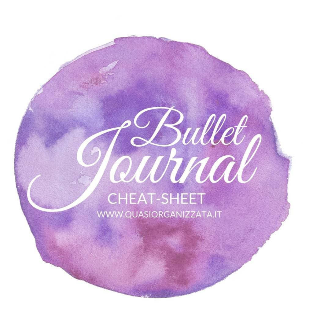 Bullet Journal Cheat sheet