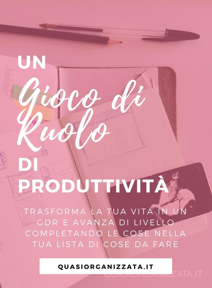 gioco di ruolo di produttività | organizzazione | todo list | agenda