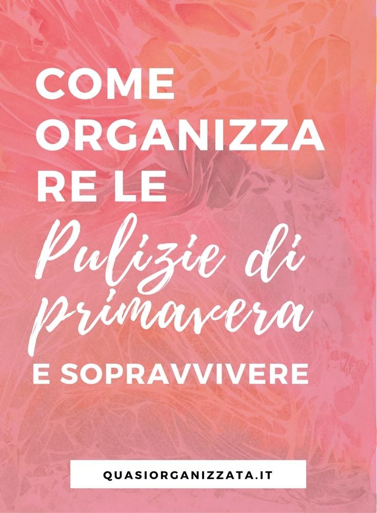 organizzare le pulizie di primavera | pulire casa | pulizia casa | pulire a fondo | organizzazione
