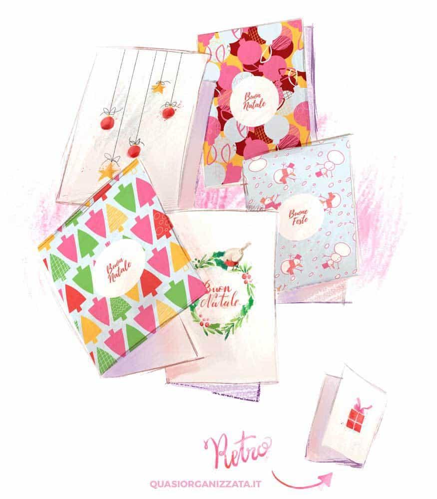 Biglietti di natale da stampare a casa #natale #faidate #crafts #decorazioni