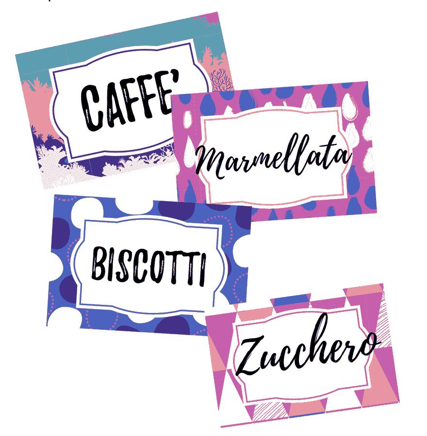 Fabuleux Etichette per barattoli da stampare - PDF modificabili  SF82