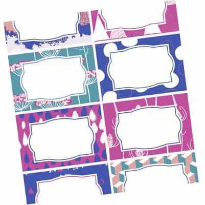 Etichette per barattoli da stampare gratuite da scaricare - etichette bianche
