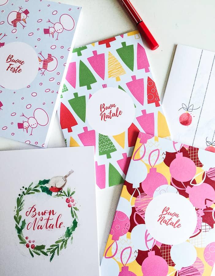 Biglietti di natale da stampare #natale #faidate #crafts #decorazioni