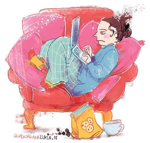 Lavorare in pigiama da casa. Se sei un freelancer (o anche uno studente) sai che non è il sogno che sembra! #produttività #cosedafare #liberoprofessionista
